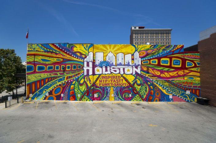 Fresque à Downtown Houston
