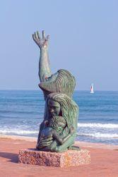Statue commémorant le désastreux ouragan de l'an 1900 à Galveston.
