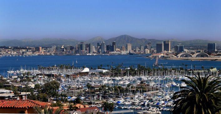 Le centre de San Diego vu depuis Point Loma.
