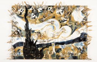 Arman, Van Gogh: Starry Night (1995).