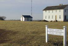 Les Icariens : l'aventure des communautés françaises utopiques aux Etats-Unis. Cette photo : la colonie icarienne de Corning, dans l'Iowa.