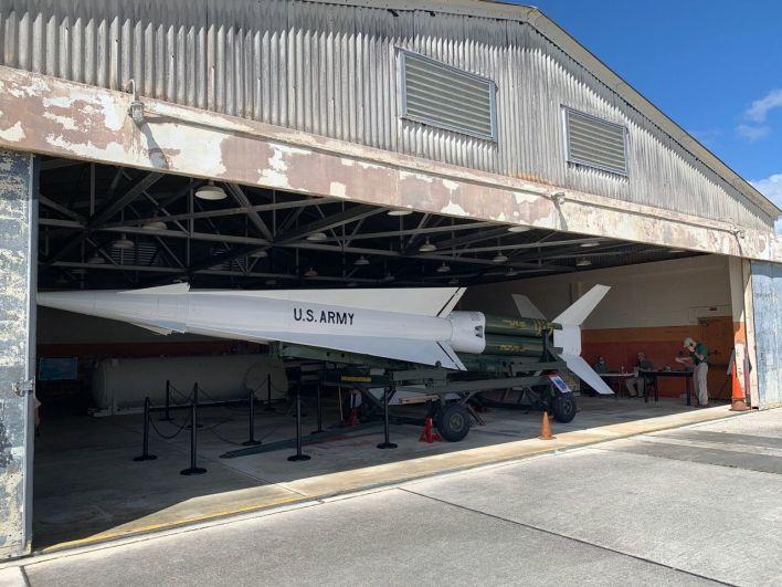 Missile Nike dans la base des Everglades, au sud de Miami.