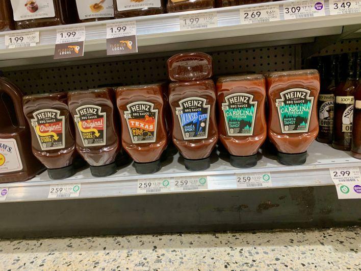 "Différentes sauces barbecue ""Heinz"""