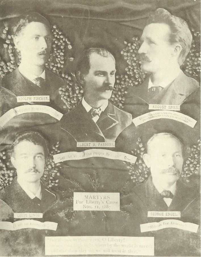 Les martyrs du 1er mai à Chicago