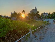 Plage près de d'Ocean Drive à South Beach, Miami Beach