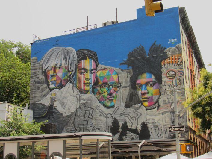 Fresque murale dans le Gallery District de Chelsea, à New-York