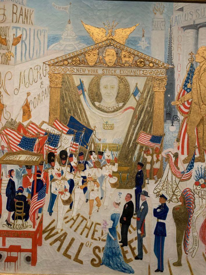 Le NYSE repensé en 1939 par la peintre Florine Stettheimer (1871-1944), visible au Metropolitan Museum of Art de New-York.