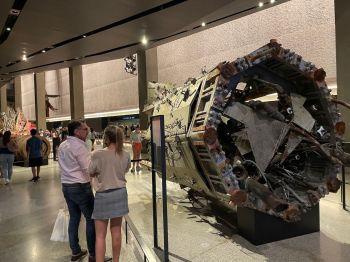 Un bout de l'antenne d'une des tours jumelles au musée et mémorial des attaques du 11 septembre.