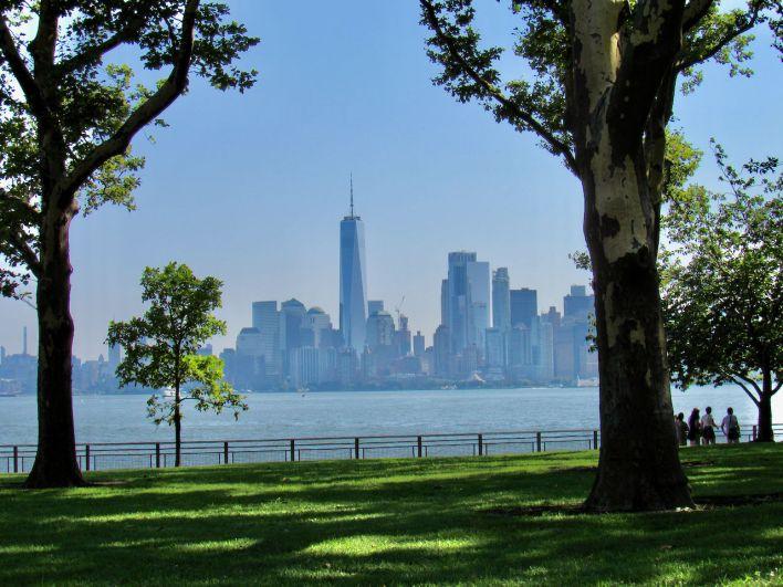 Vue sur Manhattan depuis Liberty Island