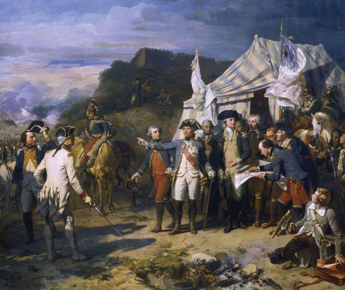 Lafayette et Washington à Yorktown