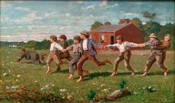 """Snap the Whip"" par Winslow Homer (1972) au Metropolitan Museum of Art de New-York"