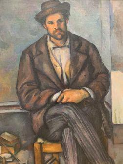 Paysan Assis, par Paul Cézanne (1892-96) au Metropolitan Museum of Art de New-York