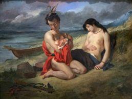 Les Natchez, par Eugène Delacroix (1823-24) au Metropolitan Museum of Art de New-York