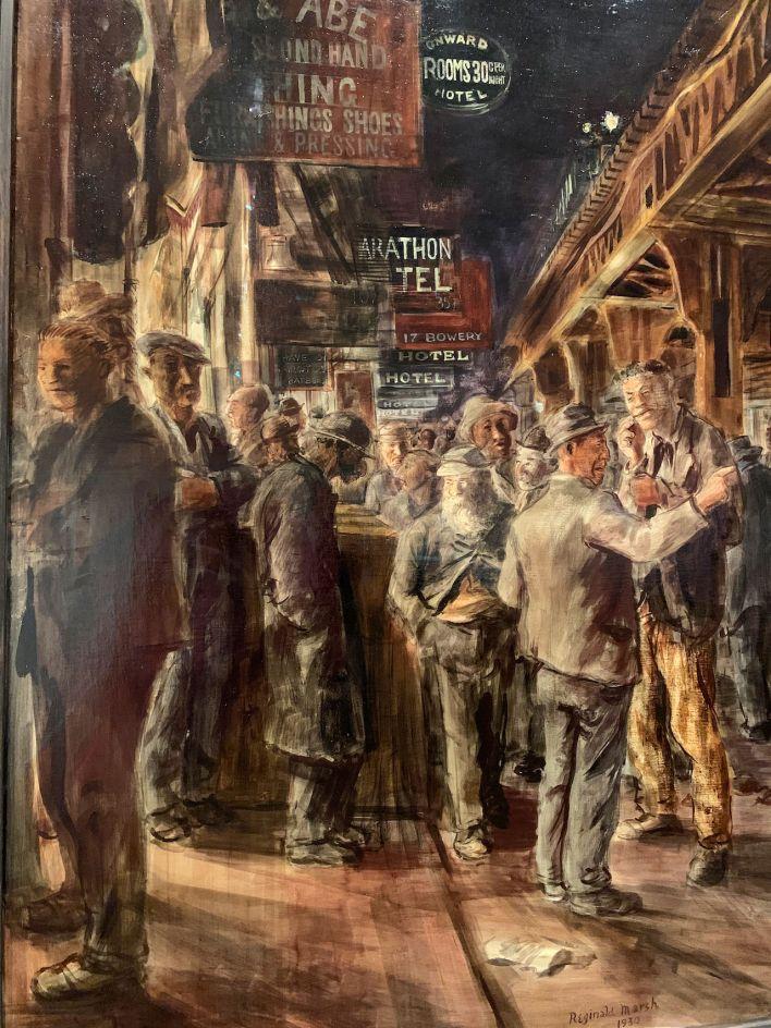 The Bowery, par Reginald March (1930à au Metropolitan Museum of Art de New-York