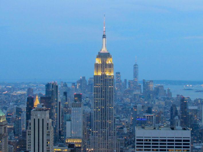 La vue depuis le Top of the Rock : le sommet du Rockefeller Center à New-York.