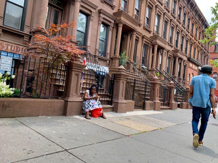 Sans domicile à Harlem (New-York) la semaine dernière.