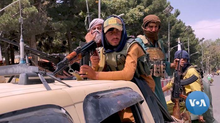Des talibans à Kaboul le 17 août 2021