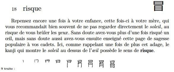 Méthode pour apprendre les kanji extrait du livre les kanji dans la tête