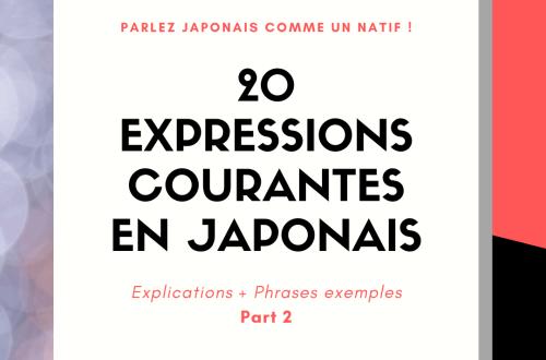 20 expressions courantes en japonais 2