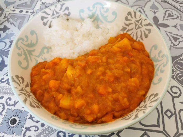 recette riz au curry japonais vegan