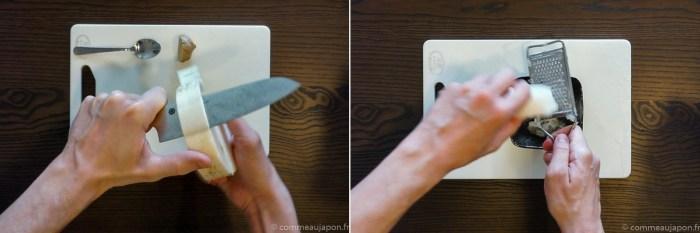 comment râper radis blanc japonais daikon