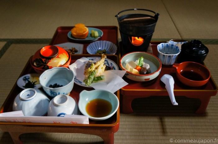 repas végétarien cuisine bouddhiste moines japon mont koya