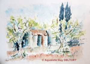 Guy DELTORT Petit cabanon (Visioateliers)