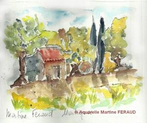 Martine FERAUD Petit cabanon (Visioateliers)