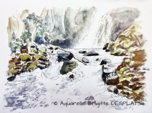 Brigitte DESPLATS  Torrent en hiver (Visioateliers)