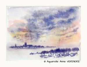 Anne VERDIERE Couchant sur la ville (Visioateliers)