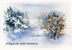 Anne VERDIERE Chemin enneigé (Visioateliers)