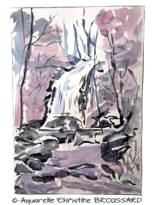 Christine BROUSSARD Cascade en hiver (Visioateliers)