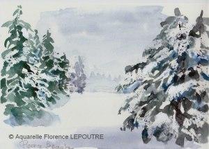 Florence LEPOUTRE Clairière enneigée (visioateliers)