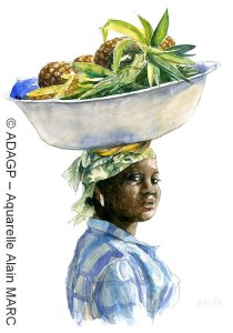 Akoua - Carnet des perles de verre Krobo - Alain MARC