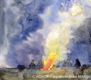 Le feu de camp - Alain MARC