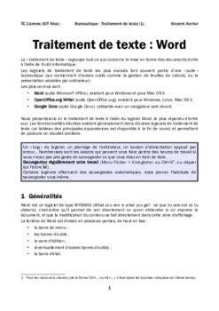 Traitement De Texte Pdf : traitement, texte, Traitement, Texte, Cours