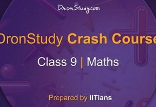 Class 9 Maths Crash Course
