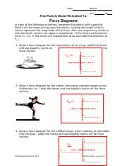 Free Particle Model Worksheet 1a Force Diagrams : particle, model, worksheet, force, diagrams, 04_u4_ws1a_key.doc, ForceDiagrams, Following, Situations, Represent, Object, Particle, Sketch, Forces, Course
