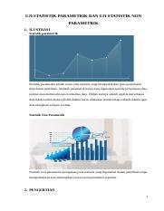 Uji Statistik Parametrik : statistik, parametrik, STATISTIK, PARAMETRIK, PARAMETRIK.docx, ILUSTRASI, Statistik, Course