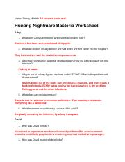 Hunting The Nightmare Bacteria Worksheet : hunting, nightmare, bacteria, worksheet, Hunting, Nightmare, Bacter, Worksheet.docx, Stacey, Miletich, Answers, Bacteria, Worksheet, Addy\u2019s, Course