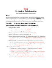 Ecological Relationships Worksheet Answers : ecological, relationships, worksheet, answers, POGIL, Ecological, Relationships, ANSWER, Symbiotic, Ecosystems, Living, Organisms, Course