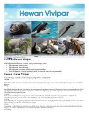 Hewan Vivipar : hewan, vivipar, Vivipar.docx, Vivipar, Adalah, Salah, Perkembangbiakan, Hewan, Dengan, Melahirkan, Perkembang, Biakan, Umumnya, Terjadi, Mamalia, Course
