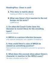 Reading Plus Stories Answers : reading, stories, answers, Level, Clean, Cool!, ReadingPlus, Story, Mainly, About, Making, Effort, Healthy, Steve's, First, Reaction, Course