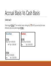 Contoh Transaksi Cash Basis Dan Accrual Basis : contoh, transaksi, basis, accrual, Contoh, Accrual, Basis, Basis.pptx, Tanggal, Membeli, Mesin, Seharga, Course