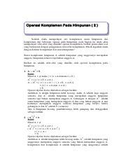 Contoh Soal Komplemen : contoh, komplemen, Teori, Himpunan2.pdf, Operasi, Komplemen, Himpunan, Setelah, Mempelajari, Suatu, Beberapa, Course