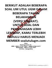Soal Utul Ugm : 429779968-Download-Bonus-Soal-pembahasan-UM-Utul-UGM-Saintek-pdf.pdf, BERIKUT, ADALAH, BEBERAPA, DALAM, TAHUN, BELAKANGAN(VERSI, Course