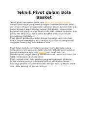 Gerakan Berporos Pada Satu Kaki Atau Pivot Dalam Permainan Bola Basket Dilakukan Dengan Tujuan : gerakan, berporos, pivot, dalam, permainan, basket, dilakukan, dengan, tujuan, Teknik, Pivot, Dalam, Basket.docx, Basket, Merupakan, Salah, Dasar, Bermain, Dengan, Posisi, Course