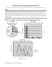 Analyzing Data Worksheet for Middle and High School {FREE}