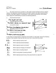 Describing Motion Verbally with Speed and Velocity