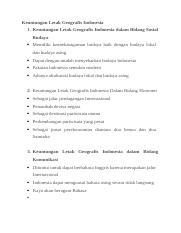 Keuntungan Letak Geologis Indonesia : keuntungan, letak, geologis, indonesia, Keuntungan, Letak, Geografis, Indonesia.docx, Indonesia, Dalam, Bidang, Sosial, Budaya, Course